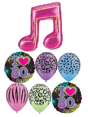 80s Music Noite Balloon Bouquet