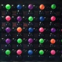 80s Neon Balloon Wall