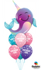 Sea Creatures Narwhal Birthday Girl Balloon Bouquet 1