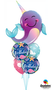 Sea Creatures Narwhal Birthday Balloon Bouquet 3