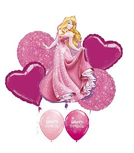 Sleeping Beauty Birthday Balloon Bouquet 2