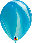 Agate Pale Blue and Dark Blue Balloons