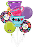 Alice in Wonderland Teacups Birthday Balloon Bouquet 2