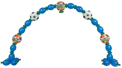 All Sports Birthday Balloon Arch 2