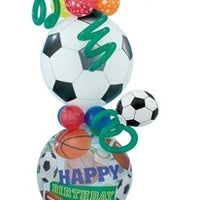 All Sports Birthday Balloon Stand Up 2