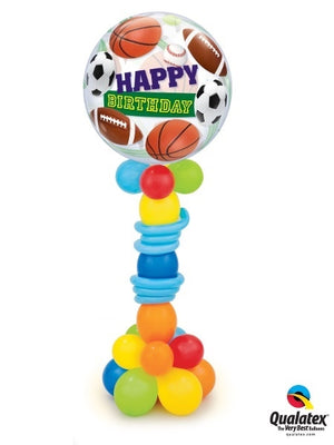 All Sports Birthday Balloon Stand Up 1
