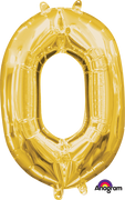 16 inch Gold Number 0 Balloon