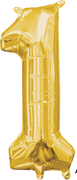 16 inch Gold Number 1 Balloon