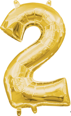 16 inch Gold Number 2 Balloon