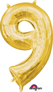 16 inch Gold Number 9 Balloon