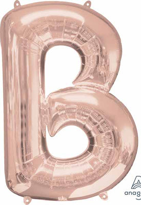16 inch Rose Gold Letter Balloon B