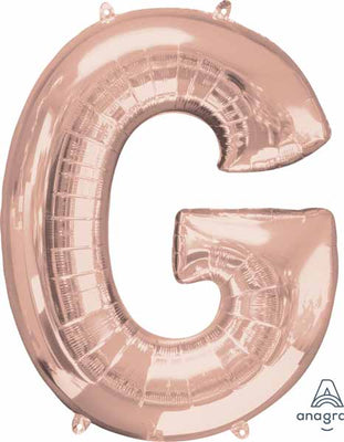 16 inch Rose Gold Letter Balloon G