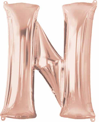 16 inch Rose Gold Letter Balloon N
