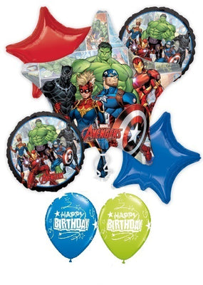 Avengers Powers Unite Birthday Balloon Bouquet