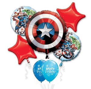 Avengers Captain America Shield Birthday Balloon Bouquet