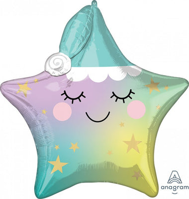 Baby Multi Sleepy Little Star 25 inch Foil Balloon