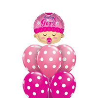 Baby Girl Polka Dots Balloon Bouquet