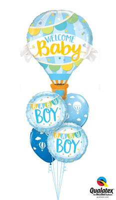 Baby Boy Hot Air Balloon Bouquet