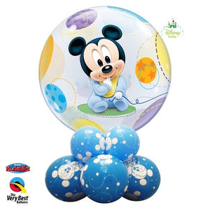 Baby Mickey Mouse Bubbles Balloon Centerpiece 1