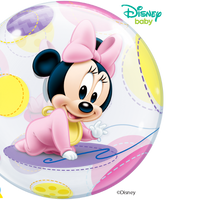 Baby Minnie Mouse Bubbles Balloon Centerpiece 1