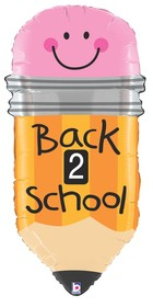 Back To School Pencil 32 inch Foil Balloons