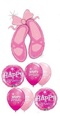Ballerina Slippers Birthday Balloon Bouquet