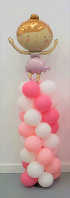 Ballerina Balloon Column