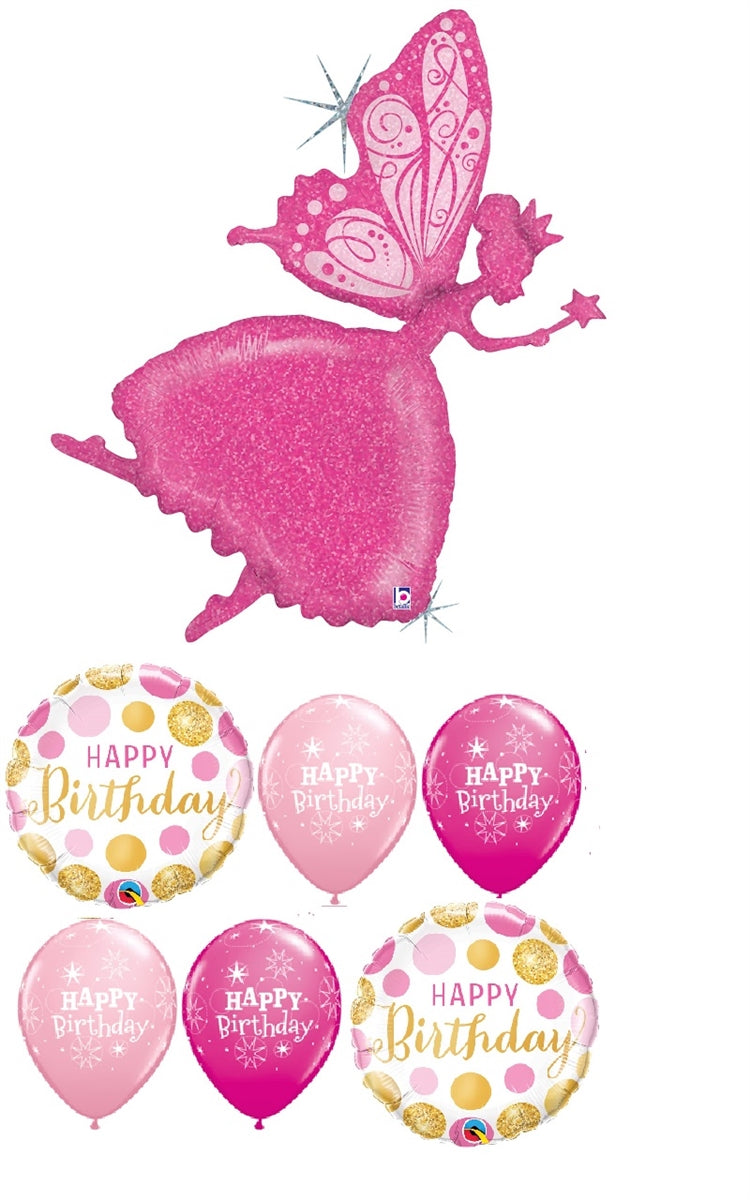 Ballerina Fairy Birthday Balloon Bouquet