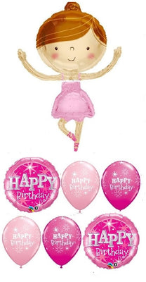 Ballerina Girl Birthday Balloon Bouquet