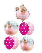 Ballerina Squirrel Birthday Balloon Bouquet