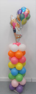 Barbie Balloon Column