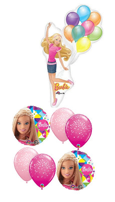 Barbie Birthday Balloon Bouquet