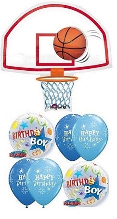Basketball Hoop Birthday Balloon Bouquet