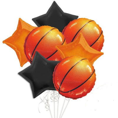 Basketball Balloon Bouquet of 7