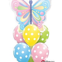 Get Well Butterflies Balloon Bouquet 2