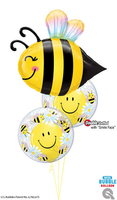Bee Happy Balloons Bouquet