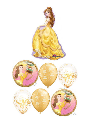 Belle Once Upon A Time Birthday Balloon Bouquet