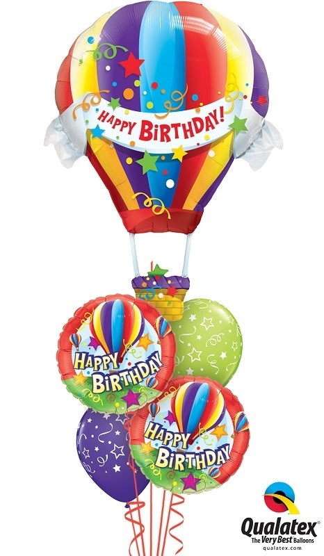 Hot Air Birthday Balloon Bouquet 1