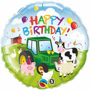Birthday Farm Animals 18 inch Foil Mylar Balloon with Helium