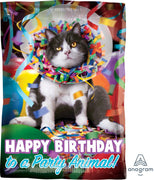 Birthday Avanti Party Animal 18 inch Mylar Foil Balloon with Helium