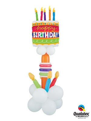 Birthday Cake Balloon Stand Up