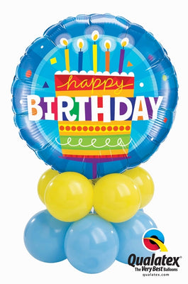 Birthday Cake Balloon Table Centerpiece