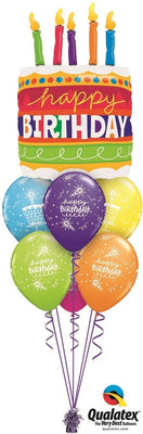 Birthday Cake Candles Balloon Bouquet