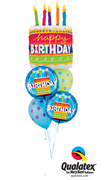 Birthday Cake Polka Dots Balloon Bouquet