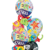 Humour Birthday Over the Hill Bubbles Bouquet