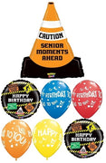 Humour Caution Senior Cone Birthday Bouquet
