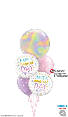 Birthday Have A Magical Day Iridescent Swirls Balloons Bouquet