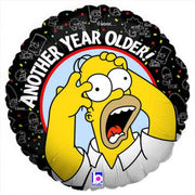 Birthday Simpsons Homer Another Year Old 18 inch Mylar Foil Balloon with Helium
