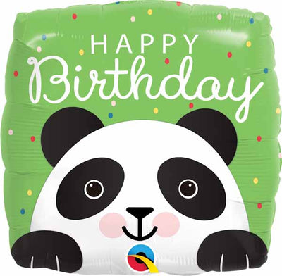 Birthday Panda 18 inch Foil Mylar Balloon with Helium