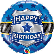Birthday Police Badge 18 inch Mylar Foil Balloon with Helium